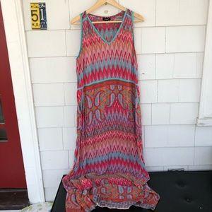 Tolani/Anthropologie Silk Print Maxi Dress